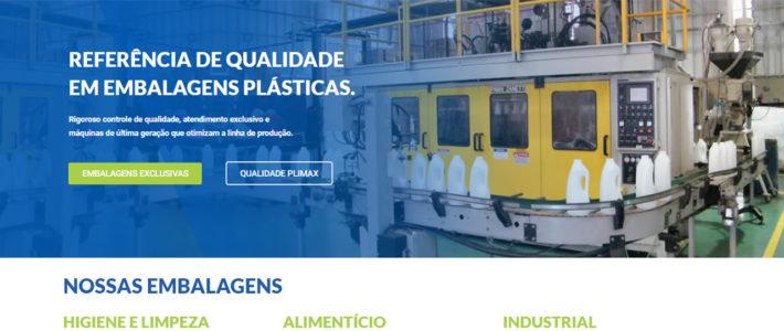 Novo site da Plimax Embalagens Plásticas