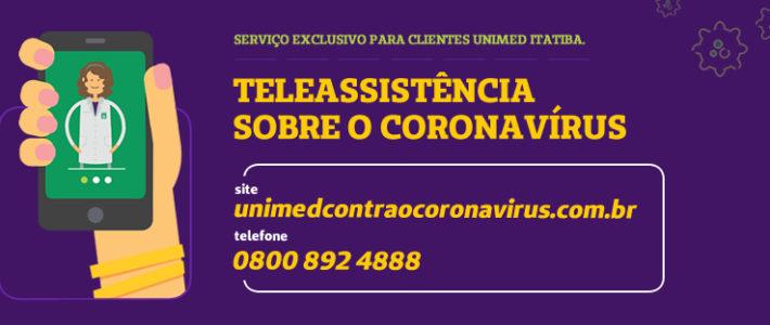 Campanha Unimed: Teleassistência sobre o Coronavírus